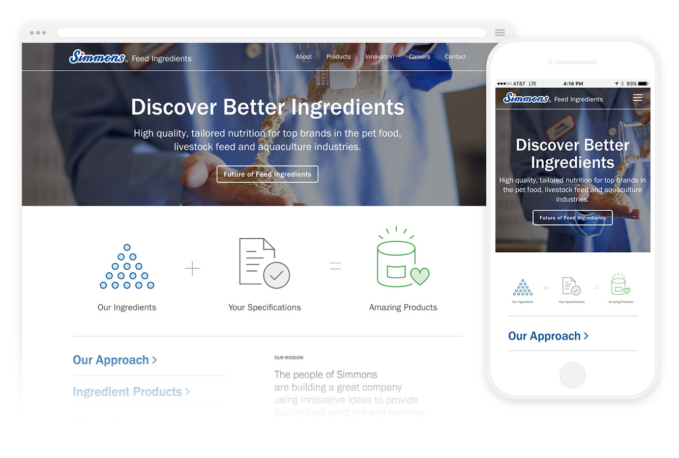 Simmons Feed Ingredients Website Preview
