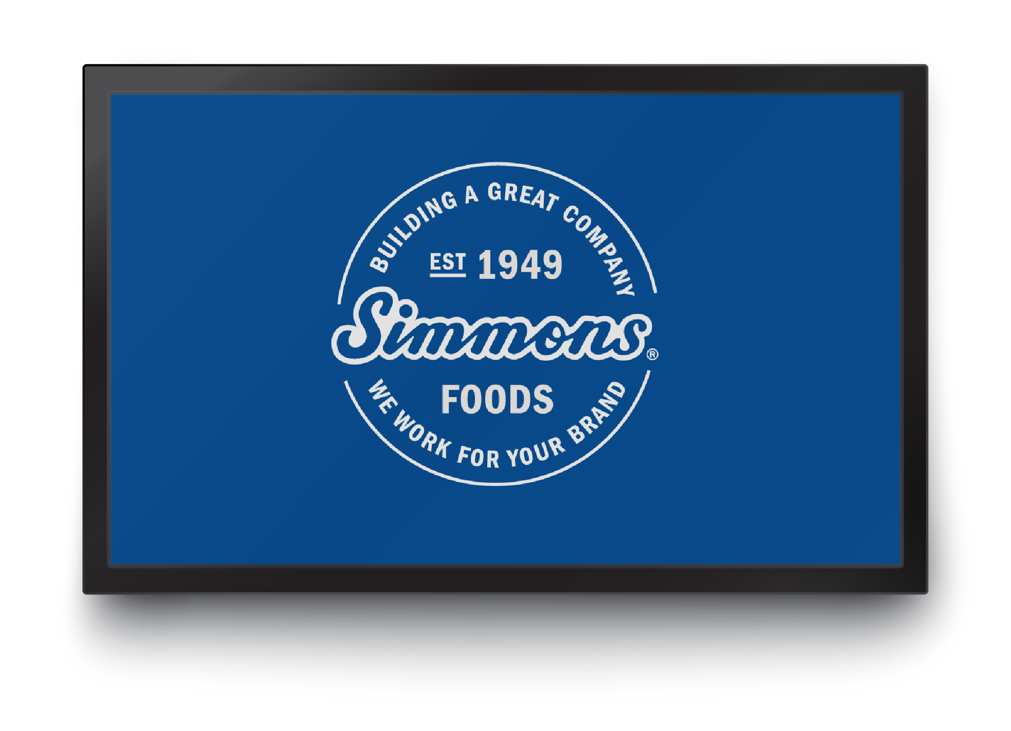 Simmons Foods Seal Logo on TV