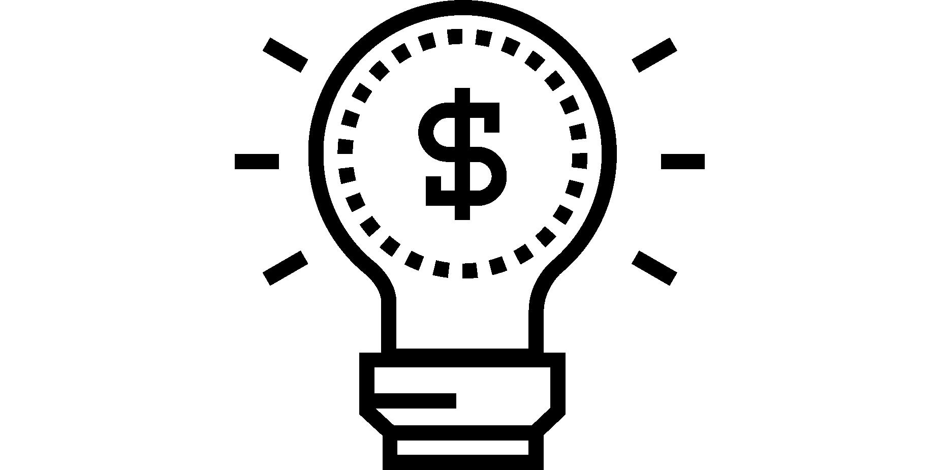 Light Bulb Money Sign Icon