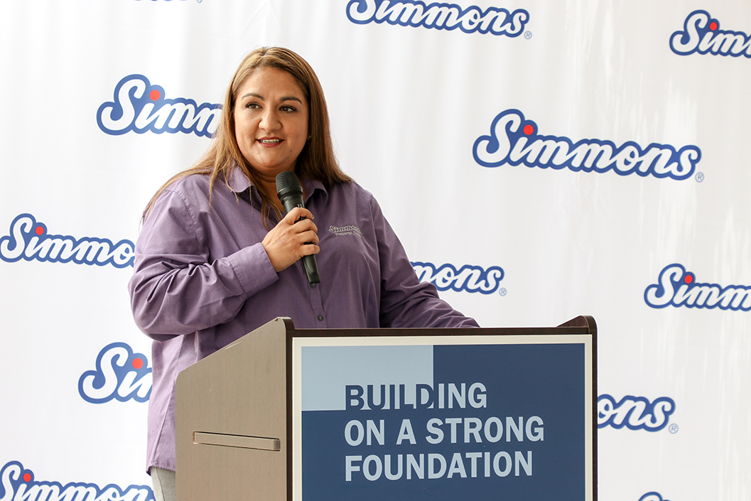Veronica Handcock, HR Manager, Decatur Facility, welcomes guests to the event.