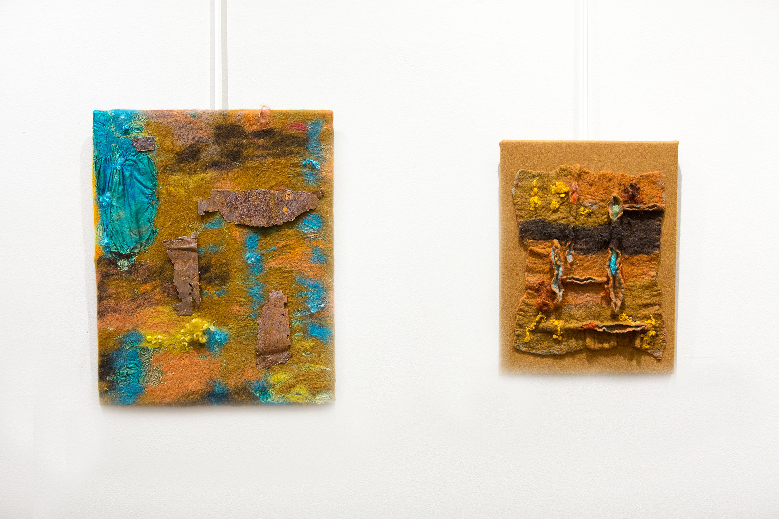 Nature's Oxides (l) and Rusty Rods (r) by Carla Duncan
