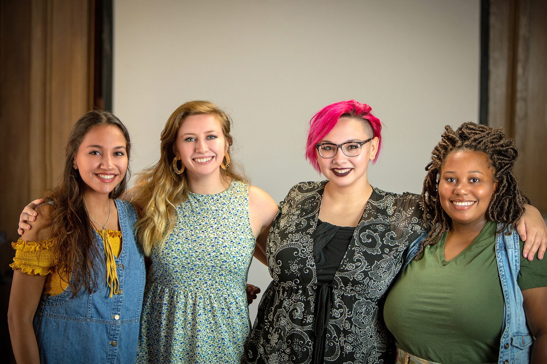 Jaclyn Oden-Peace (from left), Marissa Bucklew, Mady McColm, and Bianca Holley