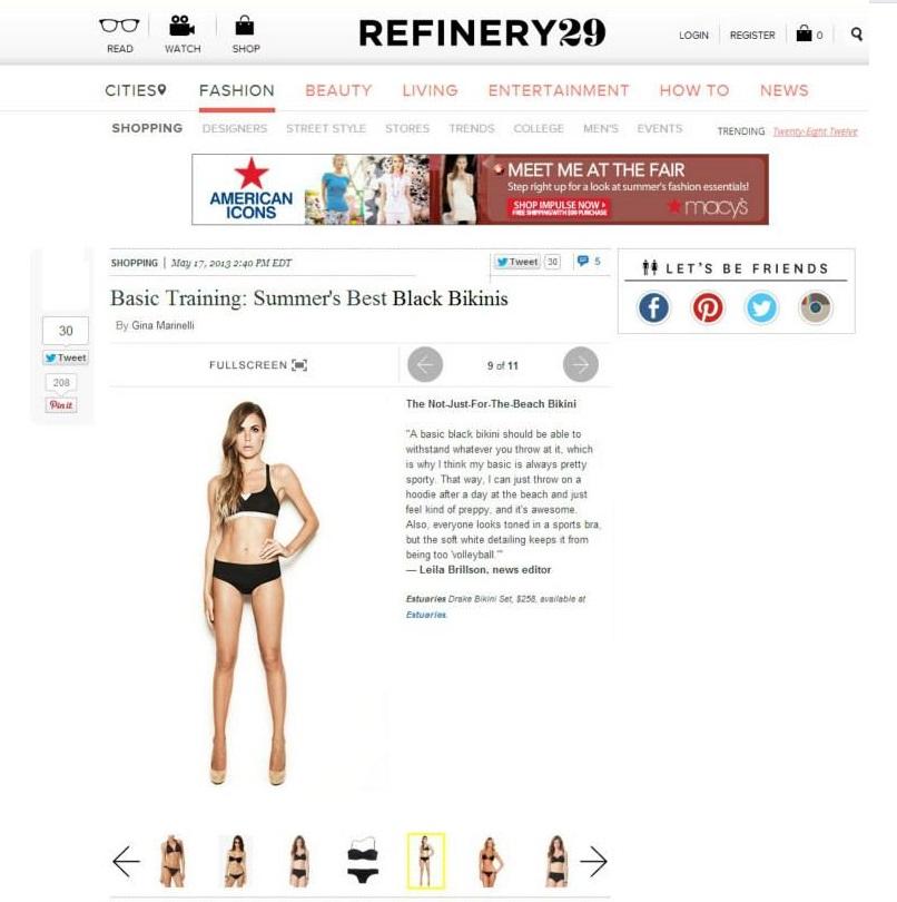 Refinery29 Estuaries Swimwear Feature