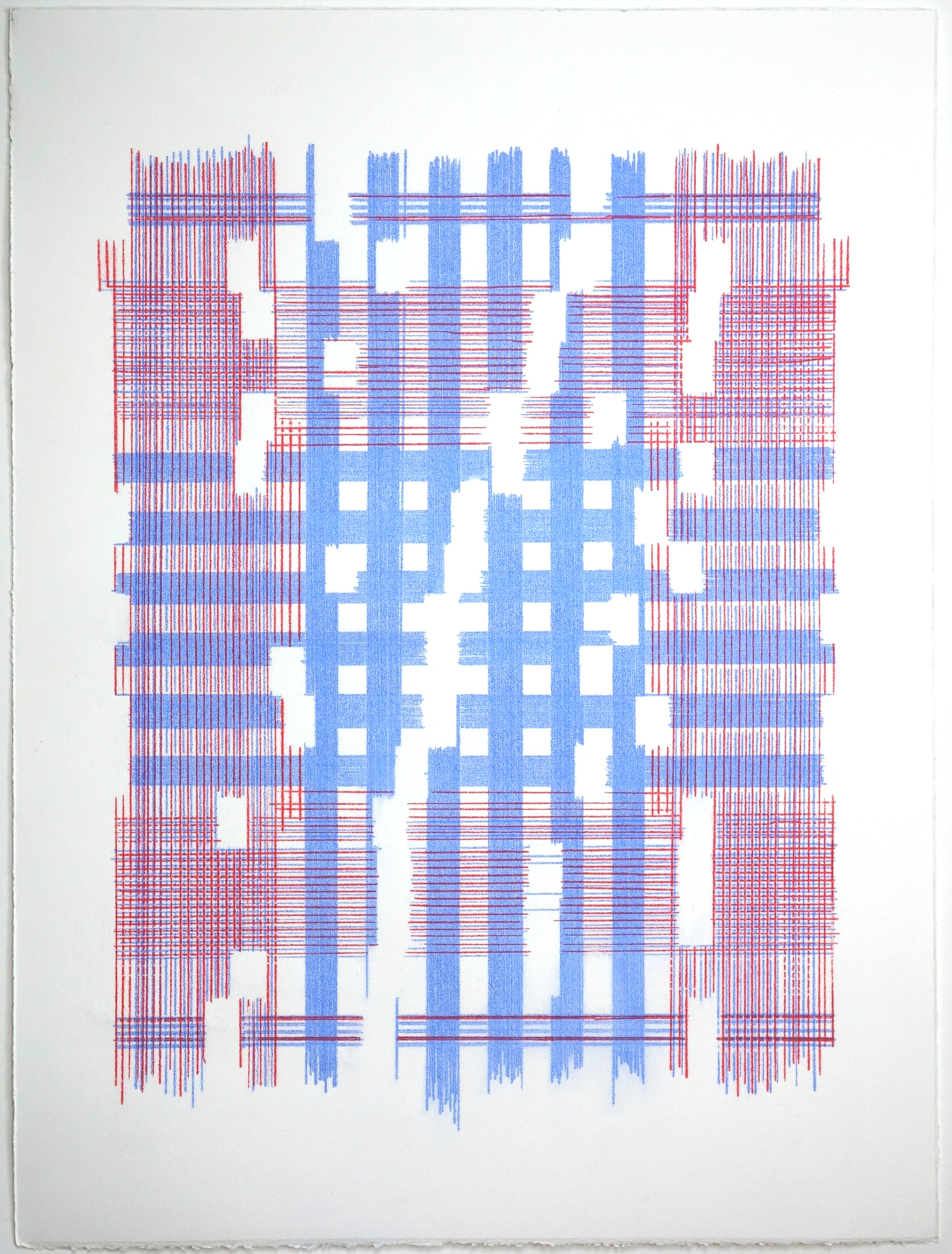 The Most Mysterious Fact (Plaid), 2018 Transfer pigment on paper; 15 x 20 inches