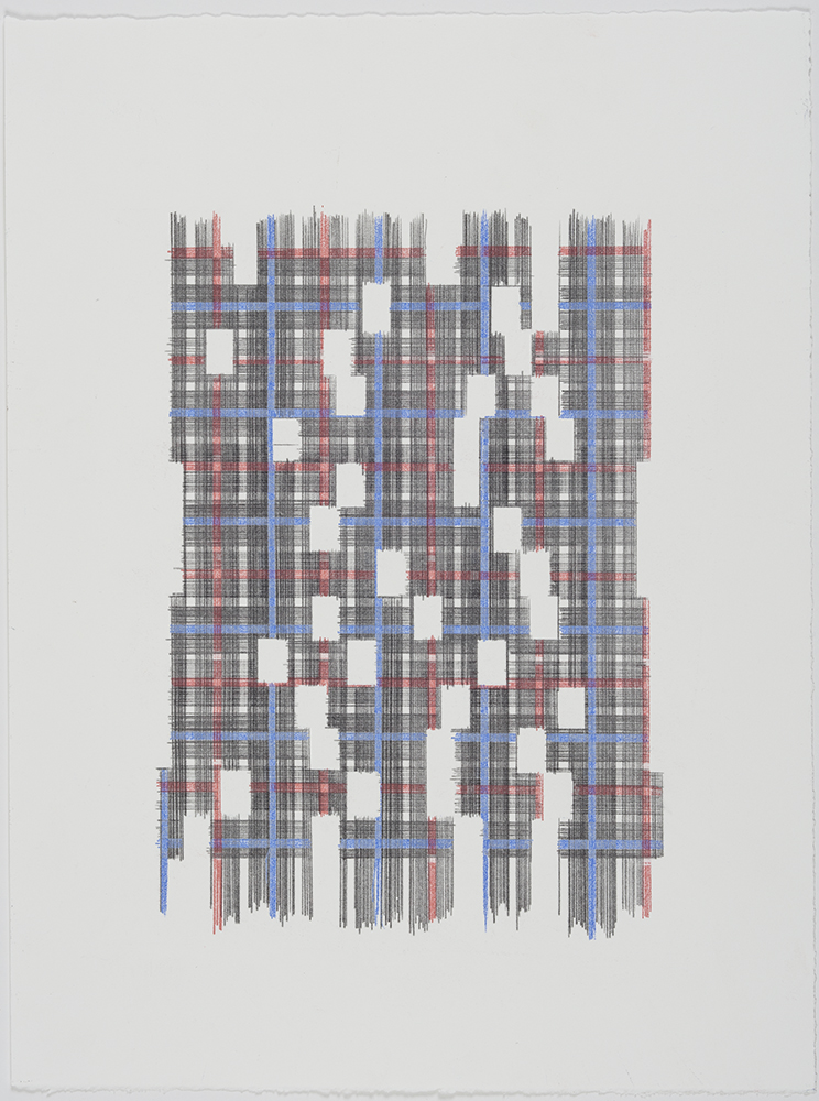 A Wide Field Of View (Plaid) , 2018 Transfer Pigment on Paper; 15 x 20 inches