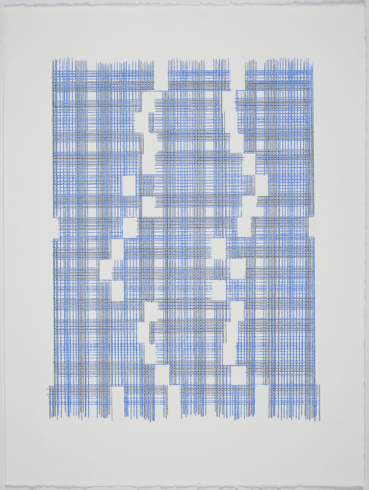 Seems Like Missing Mass (Plaid) , 2018 Transfer Pigment on Paper; 15 x 20 inches