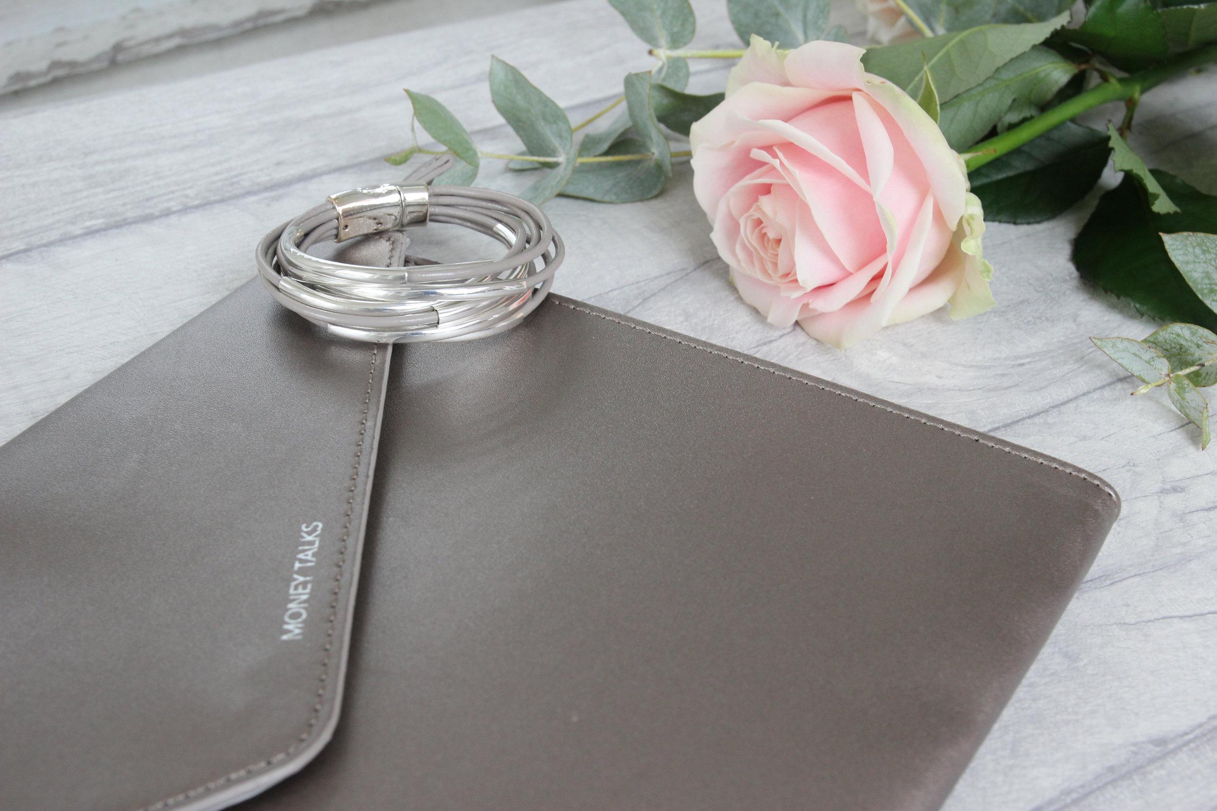 Grey clutch and bracelet.jpg