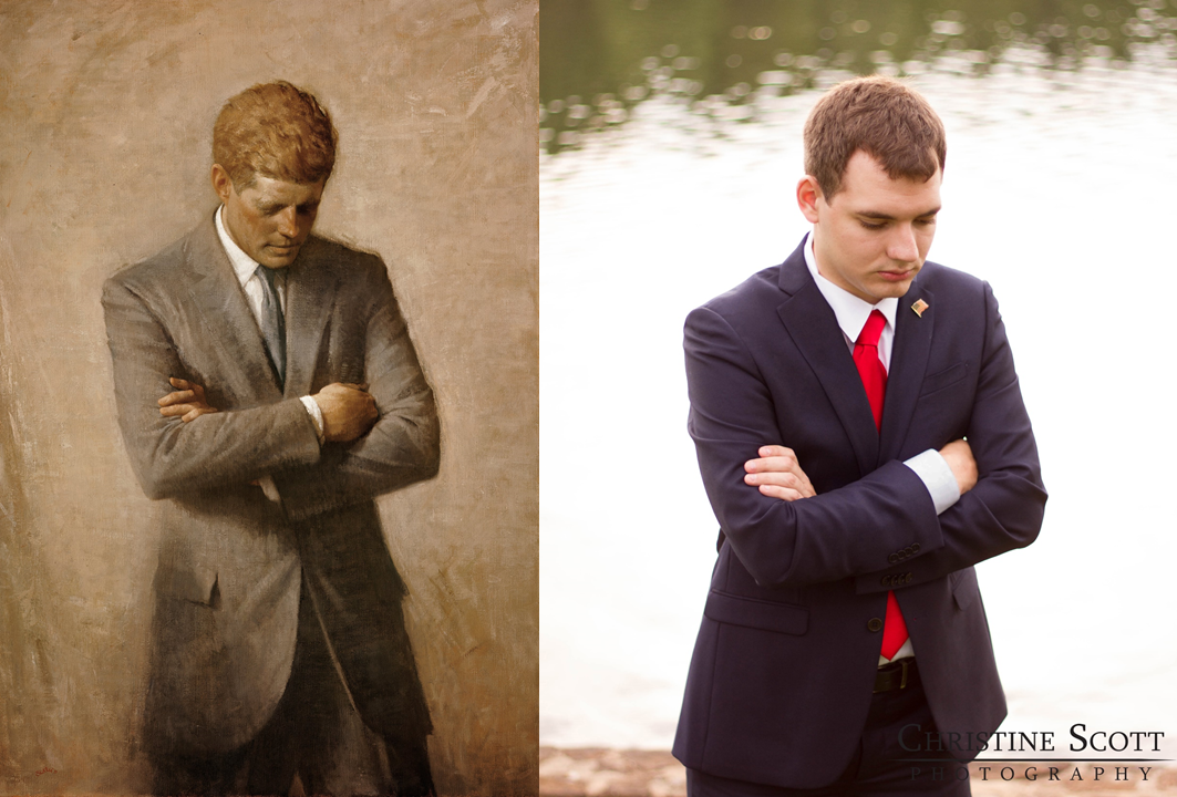 One of our favorites ended up being the pose from John F. Kennedy's official portrait.  Not one for something like a headshot, but  it's iconic because it's different.