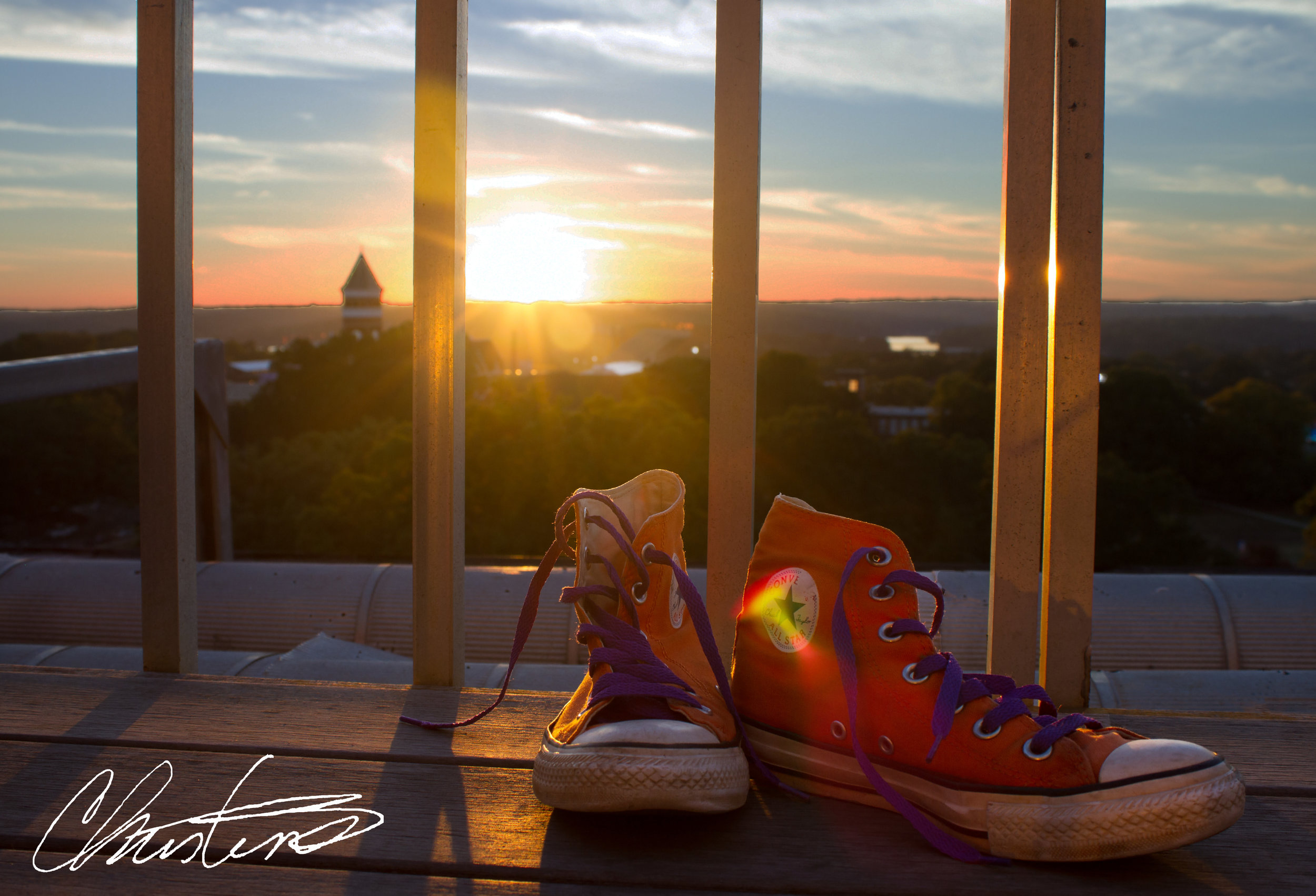 Clemson House sunset converse shoes