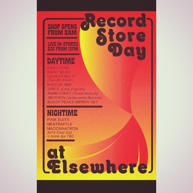 THIS SATURDAY at @elsewheremarg8! I'll be playing a set over in the glorious Elsewhere as part of the @recordstoreday celebrations - I'm in stellar company too, with a super fine lineup so get down if ya can! Times will be confirmed but keep an eye out here and on Elsewhere's page too... Should be a powerful day. Come through! #rsd #rsd19 #recordstoreday #margate