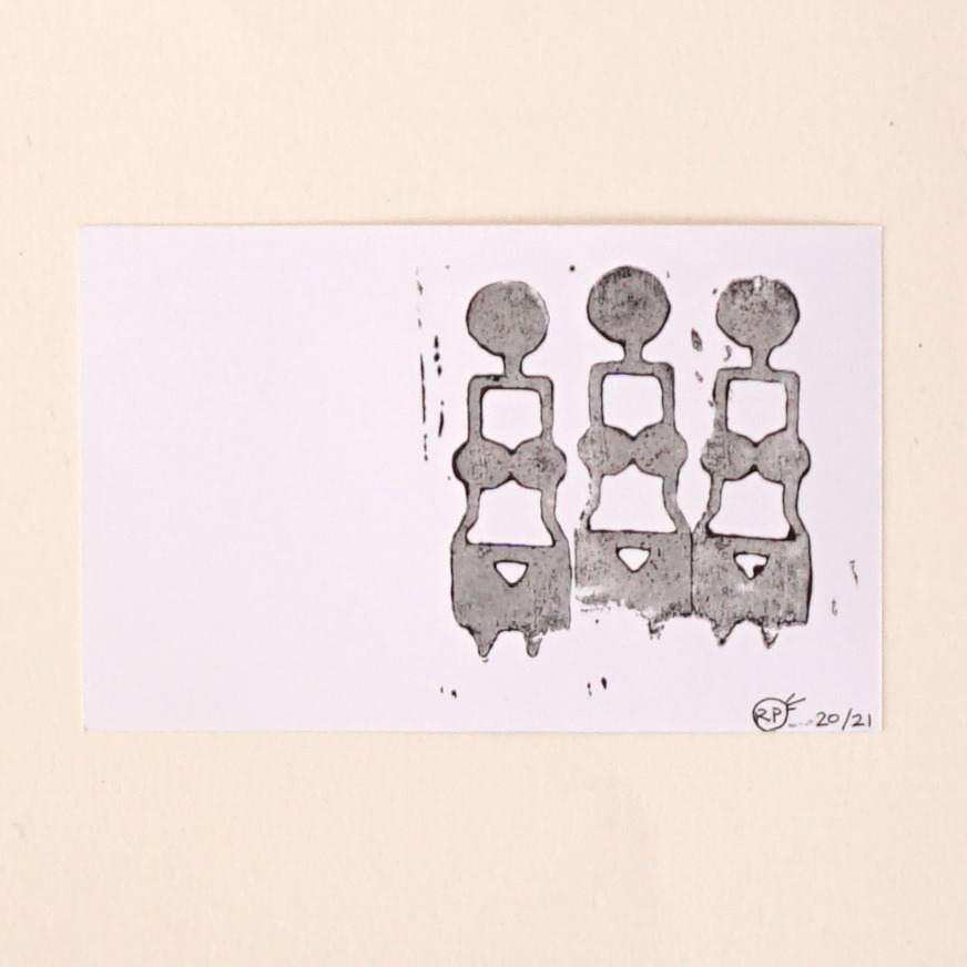 Three Women postcards  limited edition of 21