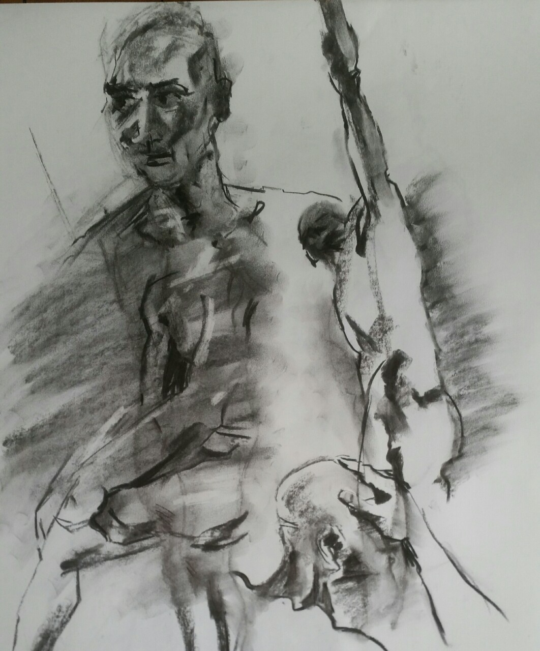 Quick life drawings and messy hands  Candid Arts  2015