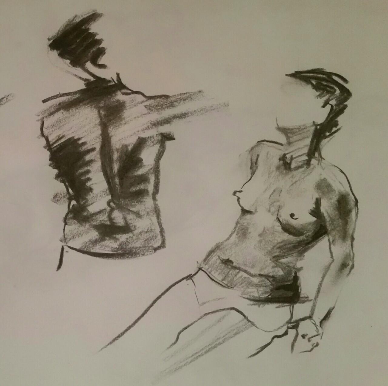 A night drawing at  lifedrawn4 .  2015