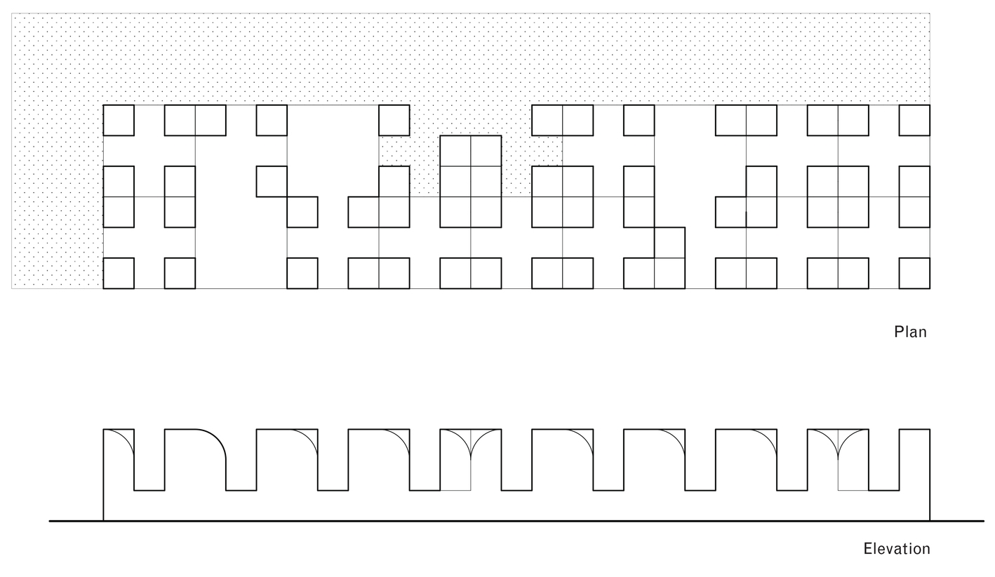 Plan and elevation diagrams