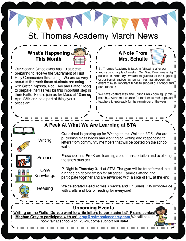 Newsletter — St Thomas Academy