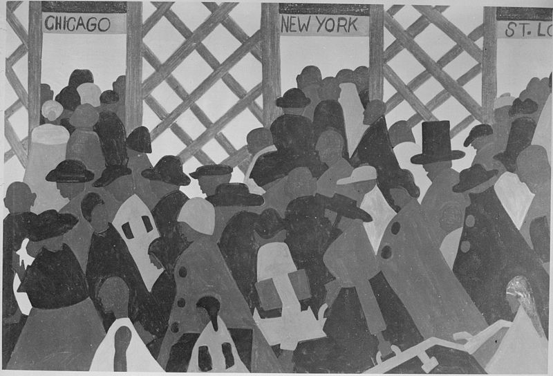 Picture credit:  During World War I there was a great migration north by southern Negroes , by Jacob Lawrence