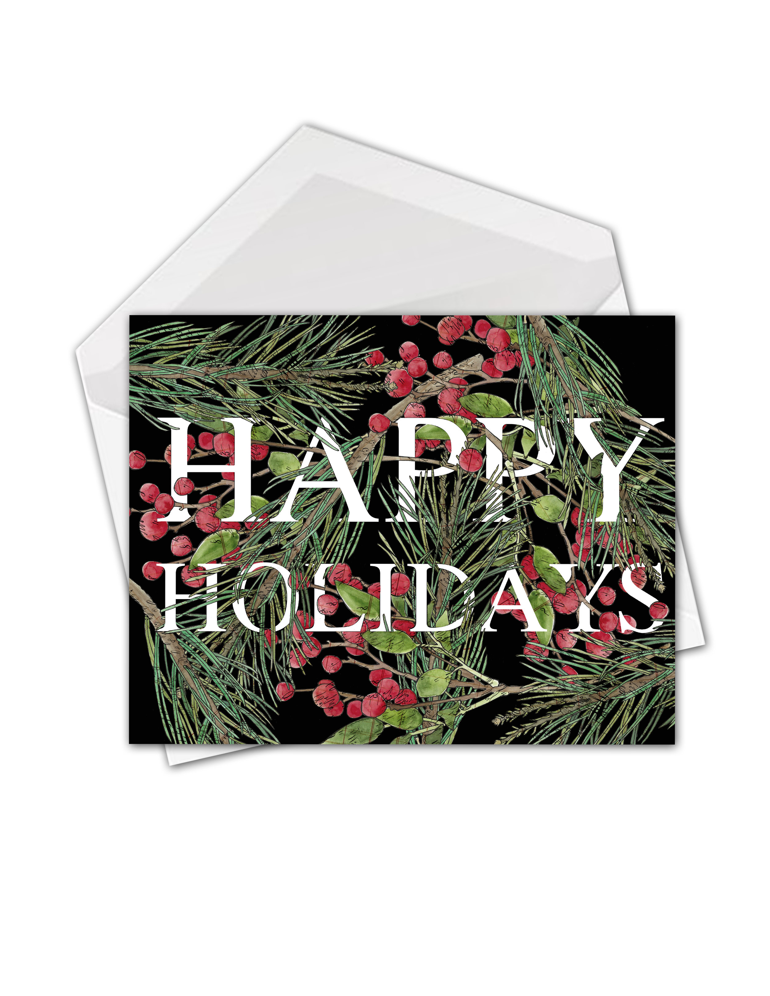CA Evergreens and berries big words Happy card mock.jpg