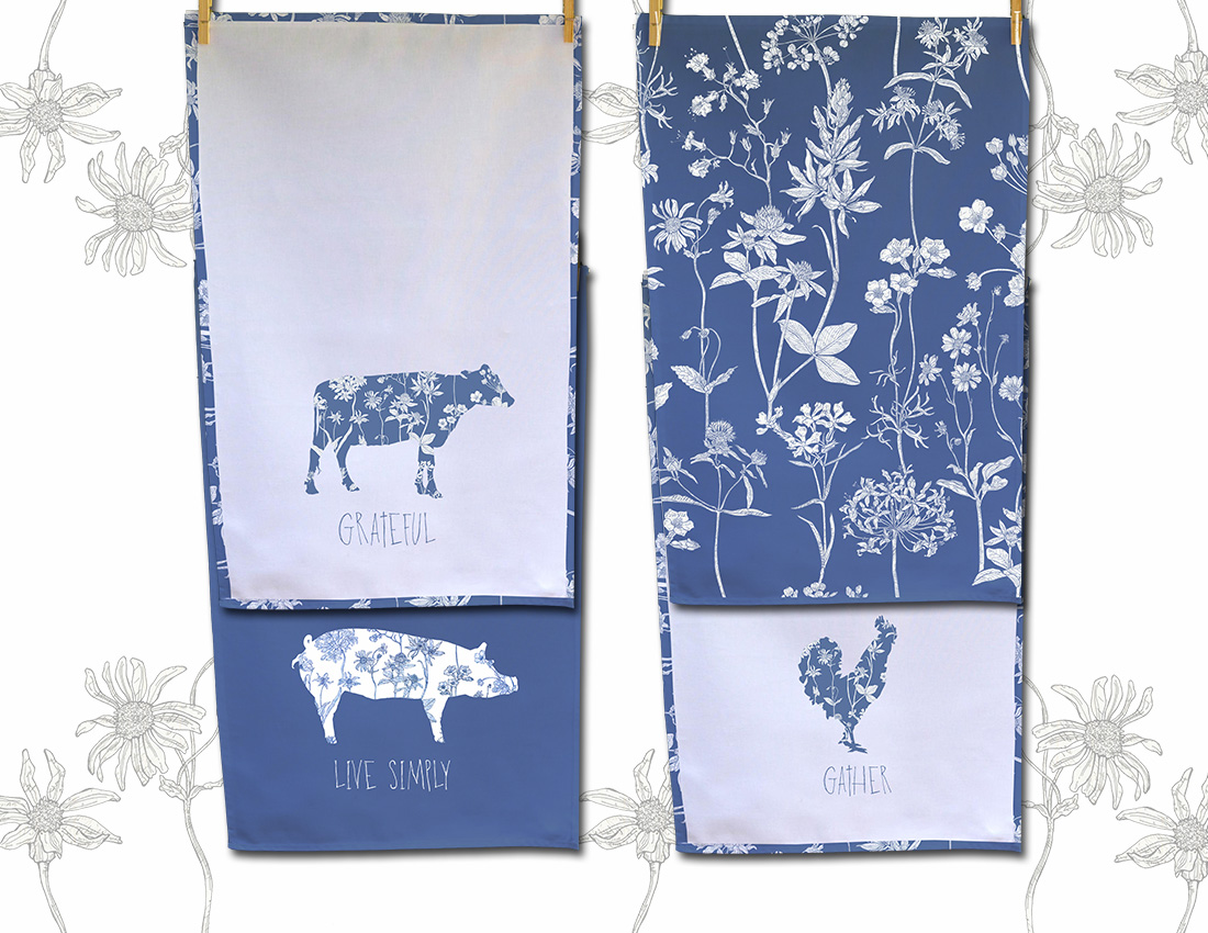 CA Farmstyle 3 tea towels blue white flowers.jpg