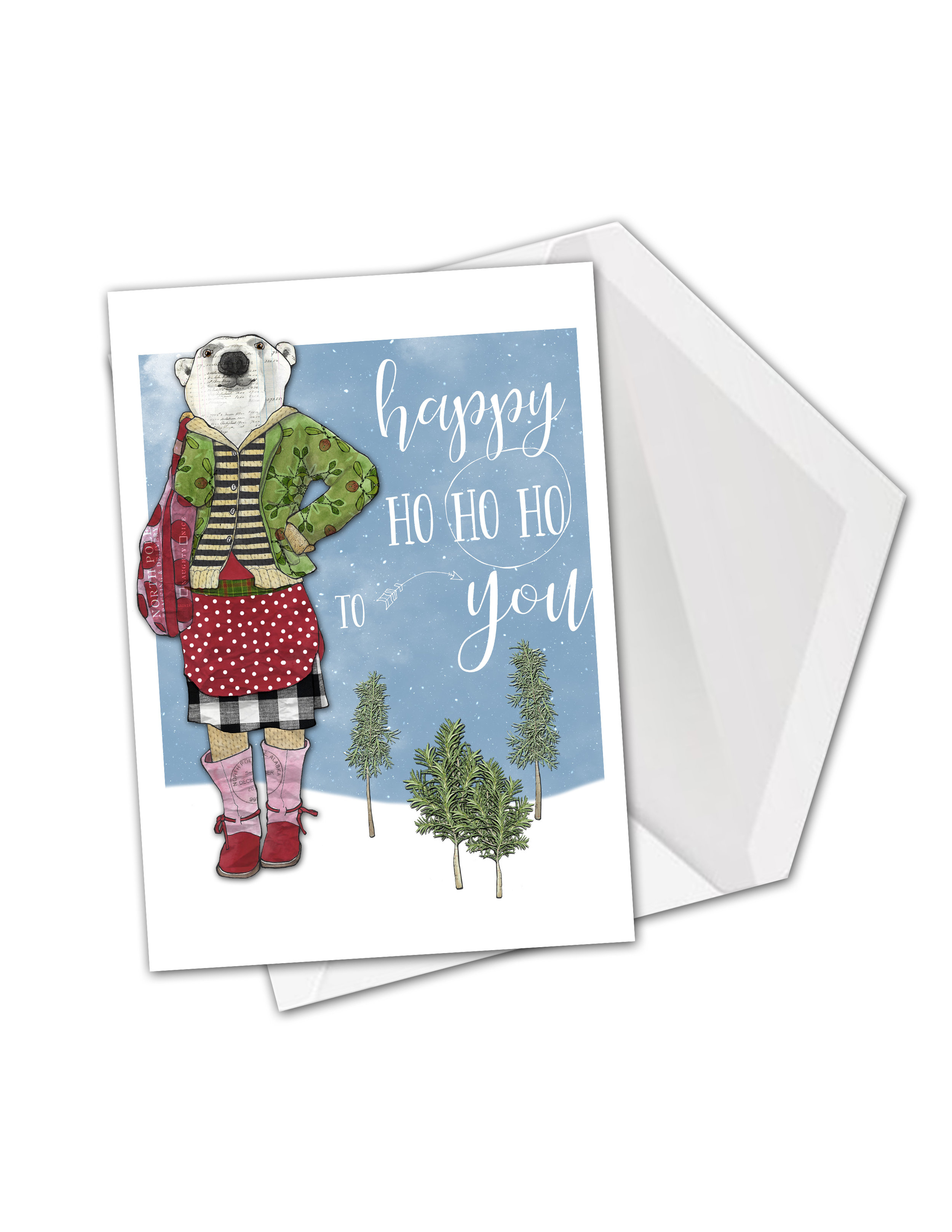 Polar bear happy ho ho ho card mock.jpg