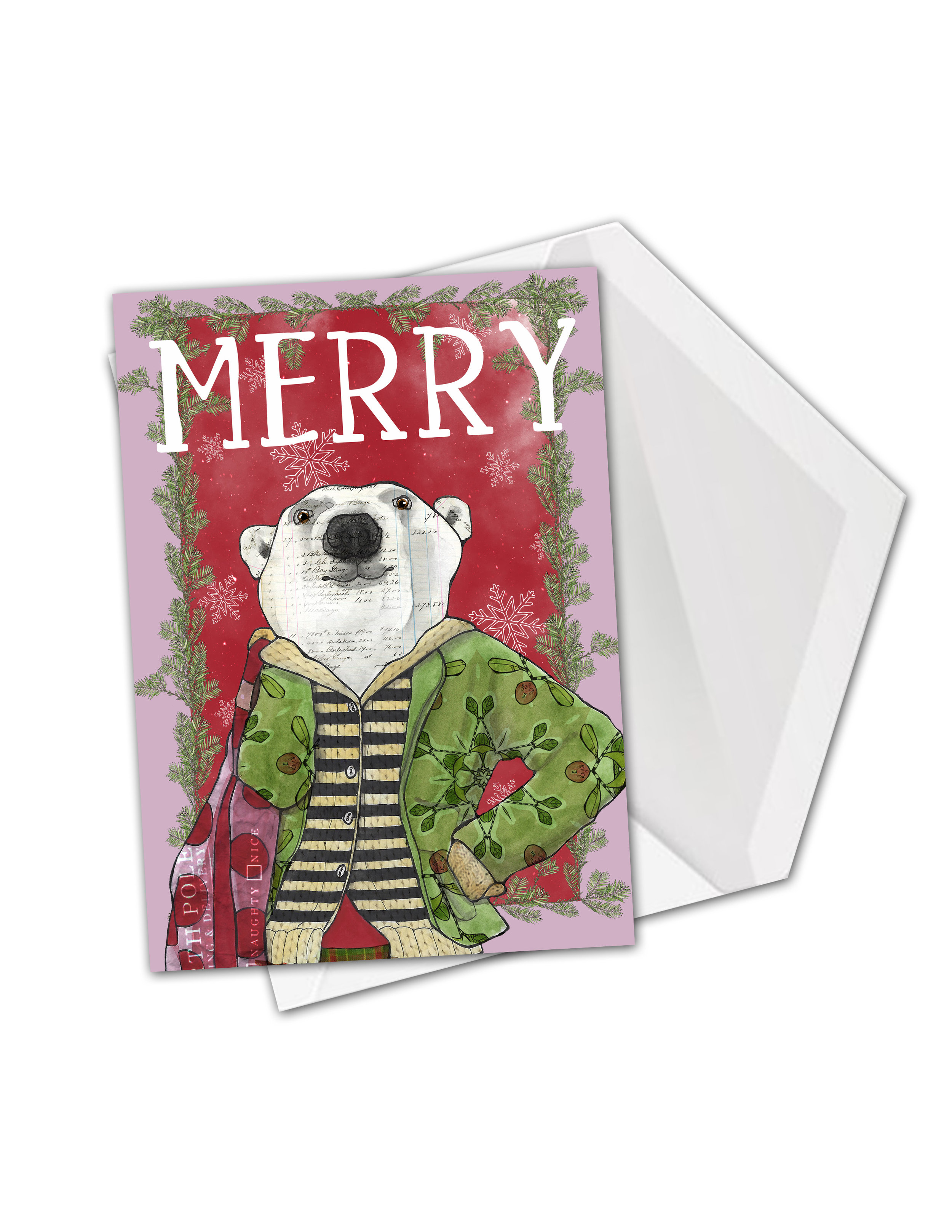 Polar bear merry card mock.jpg