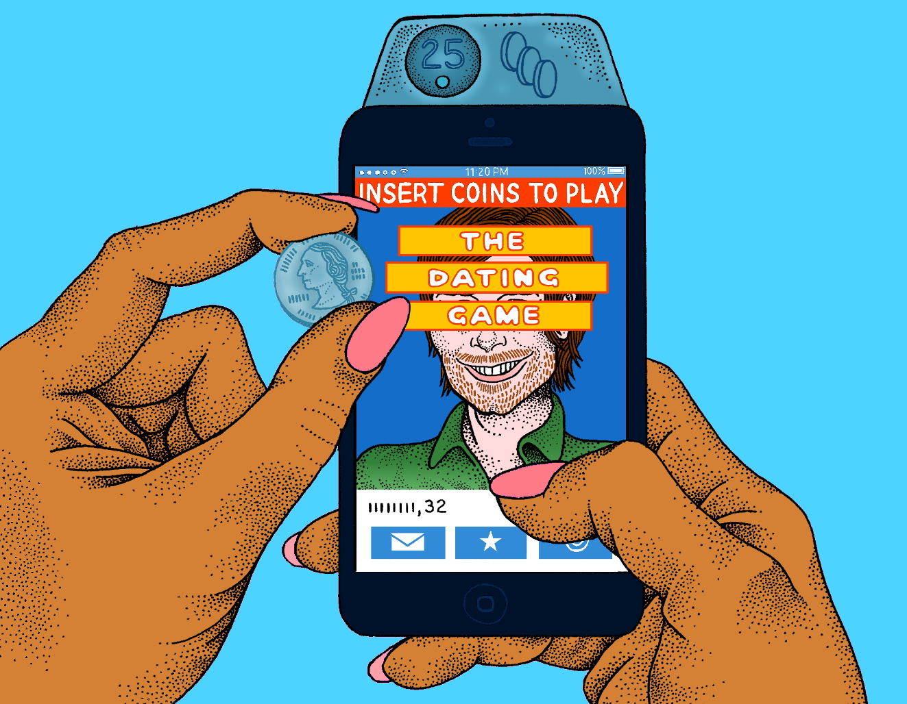 Client: New York Observer  For a piece on  paid dating apps