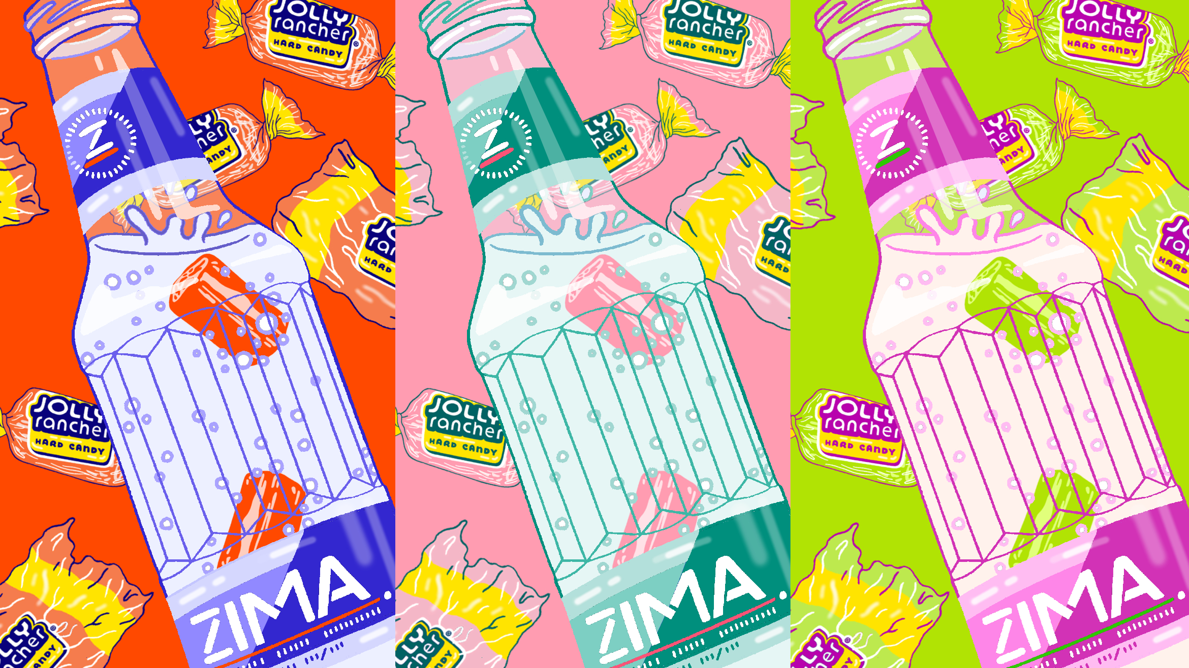 Zima + Jolly Ranchers