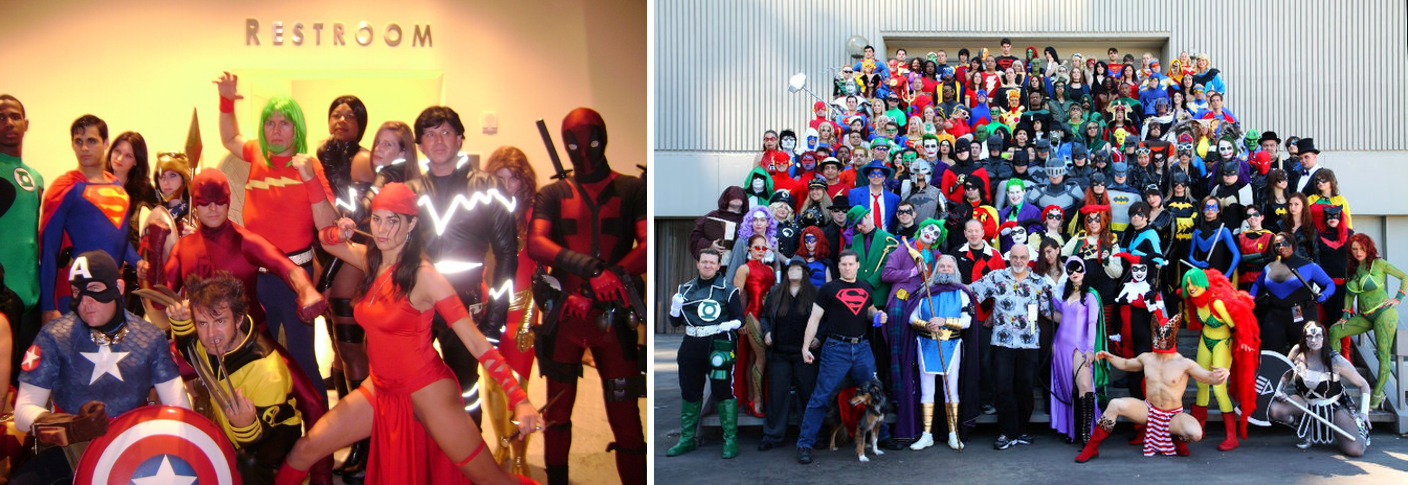 Superhero Photoshoots Then (2007) and Closer to Now (2011)