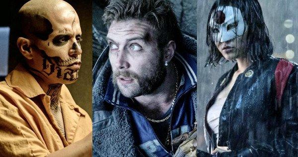 Diablo, Captain Boomerang, and Kitana played by Jay Hernandez, Jai Courtney, and Karen Fukuhara