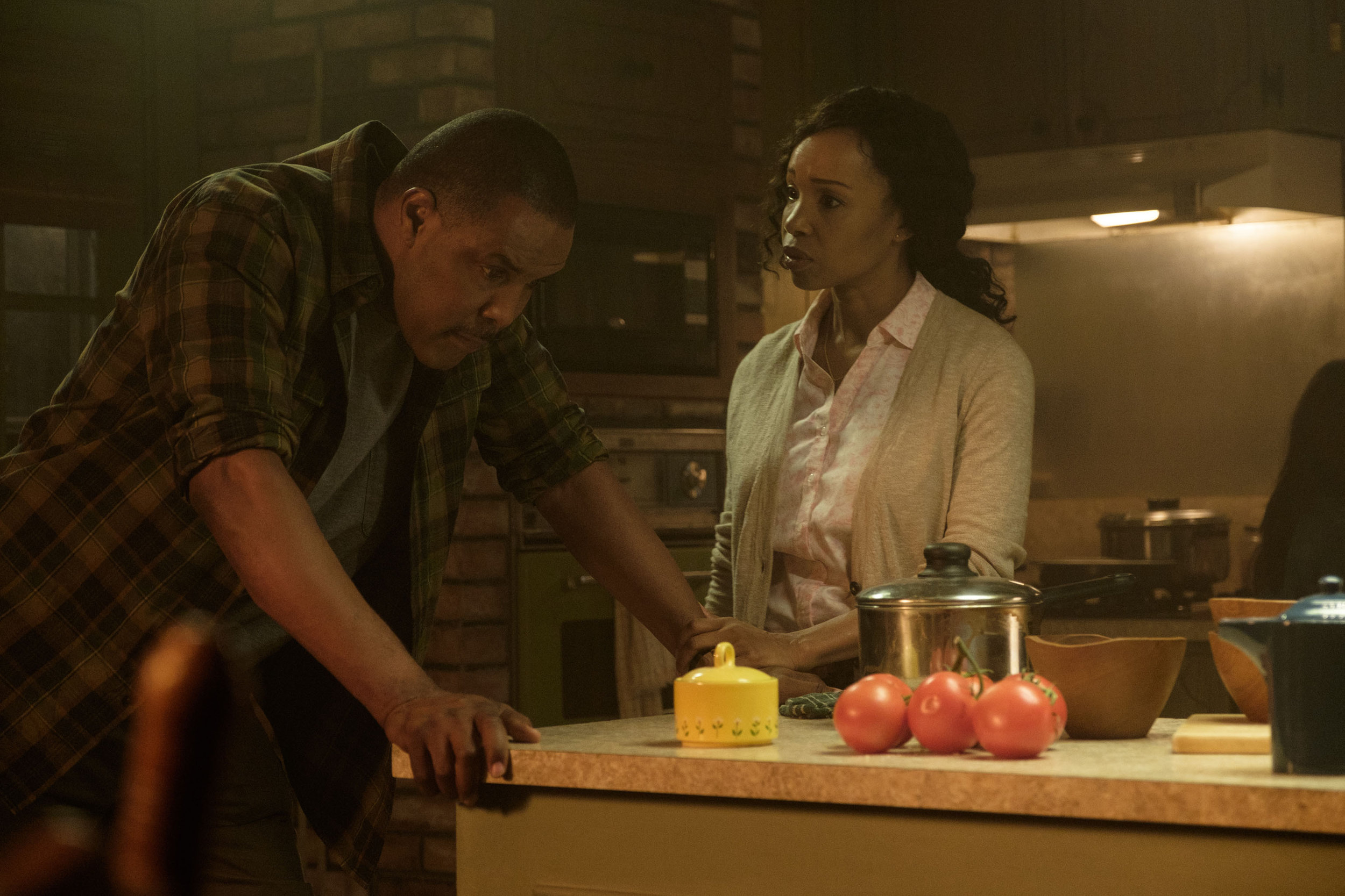 Eriq La Salle and Elise Neal as the Munson's in  Logan