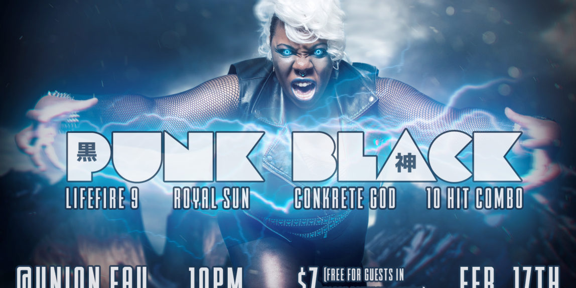 In February 2018,  I was chosen as the model for the Punk Black event flyer and interviewed.