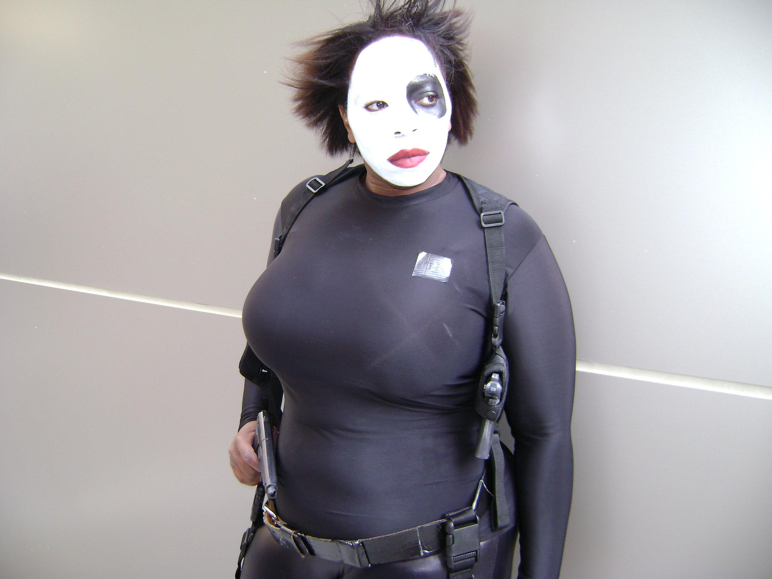 TaLynn Kel in Domino cosplay, 2007