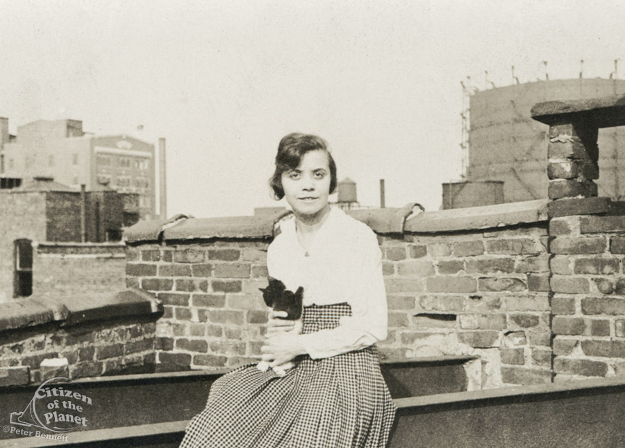 My Grandmother Fanny on the roof of their apartment building