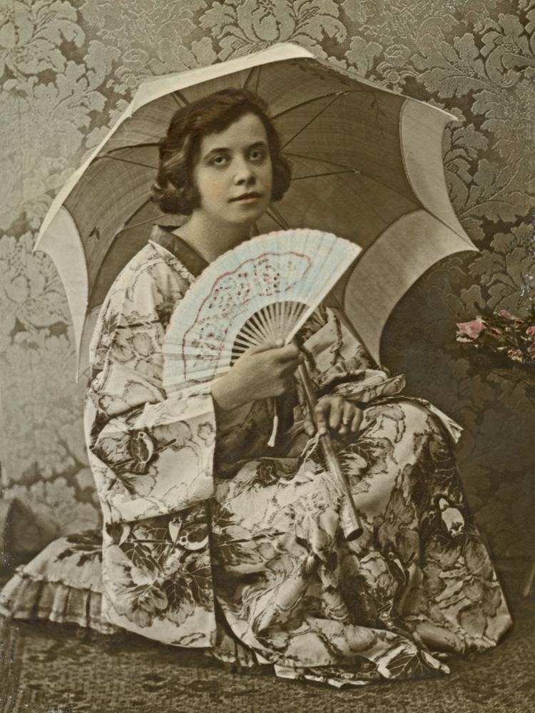 My maternal grandmother Fanny Lenoff in my grandfather's photo studio