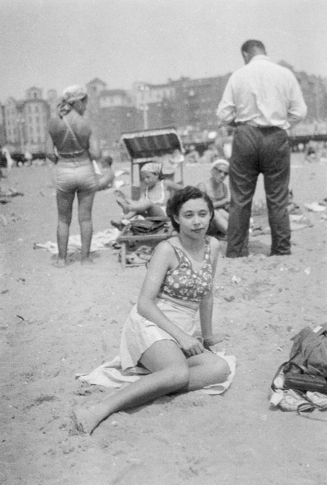 My mother on Brighton Beach
