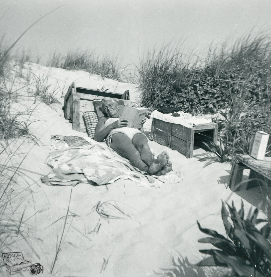 My grandmother in the dunes