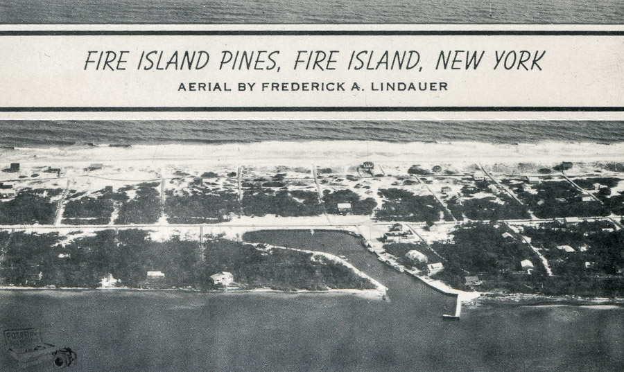 Aerial shot of the Pines in it's early days
