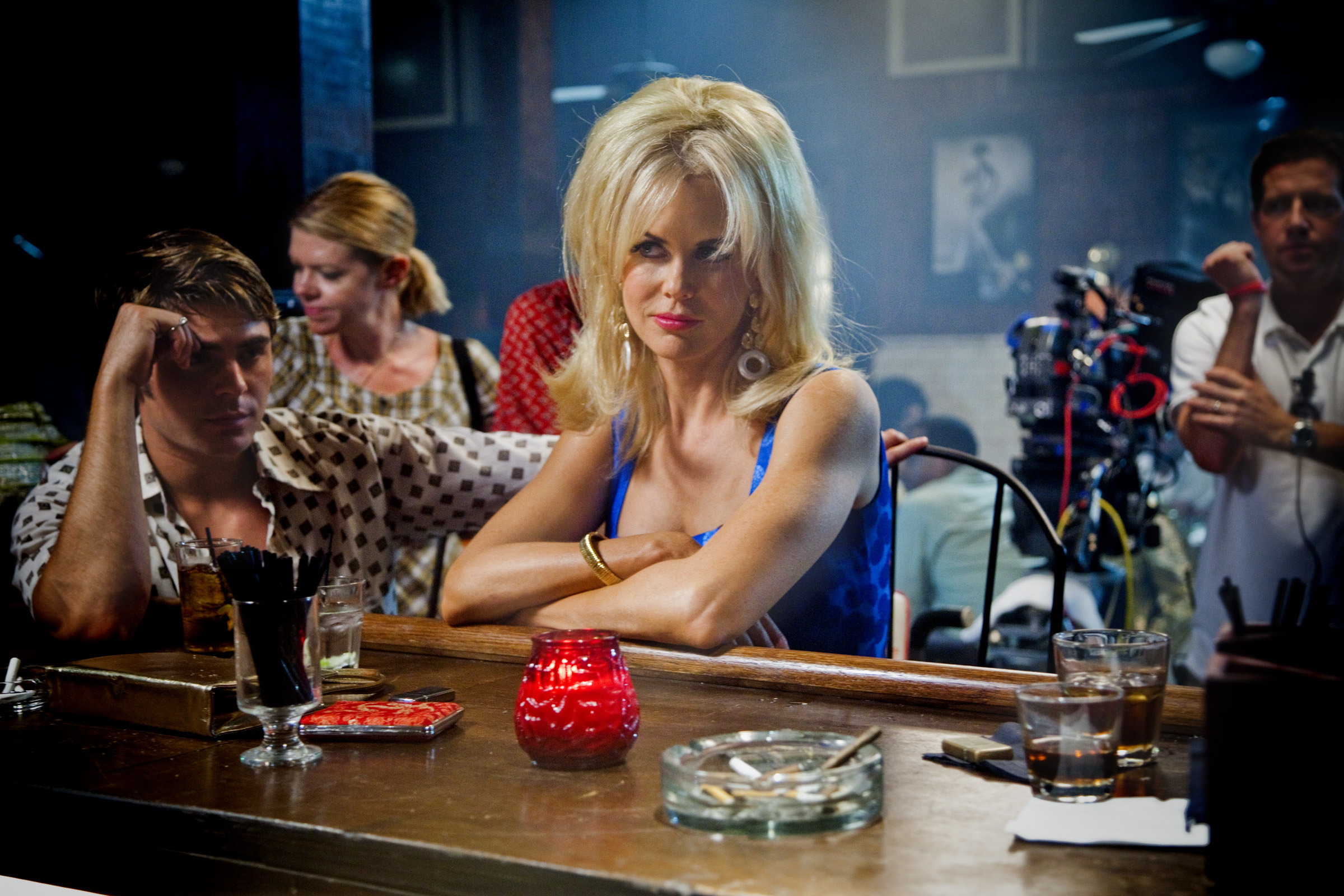 Nicole Kidman on the set of The Paperboy