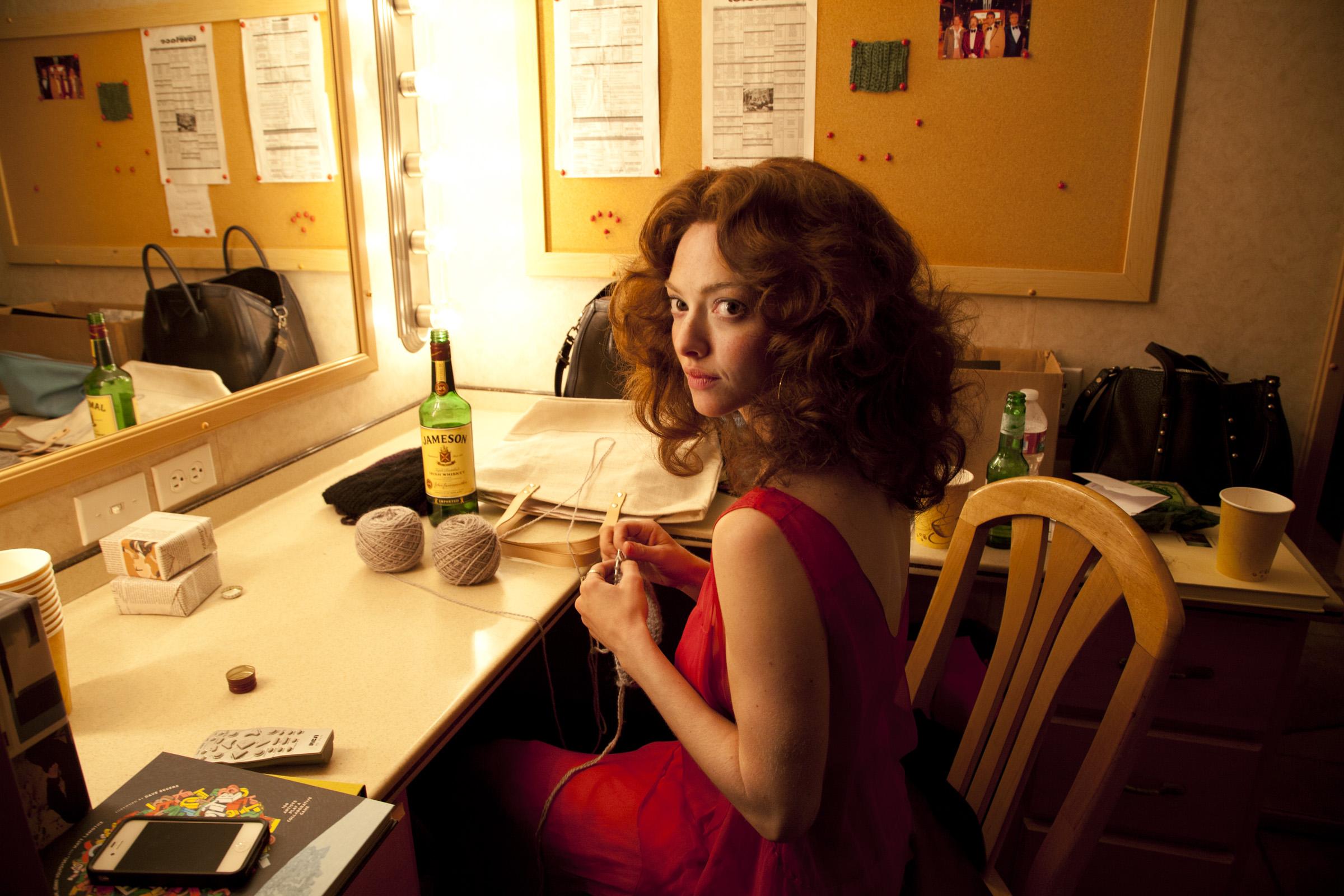 Amanda Seyfried on the set of Lovelace