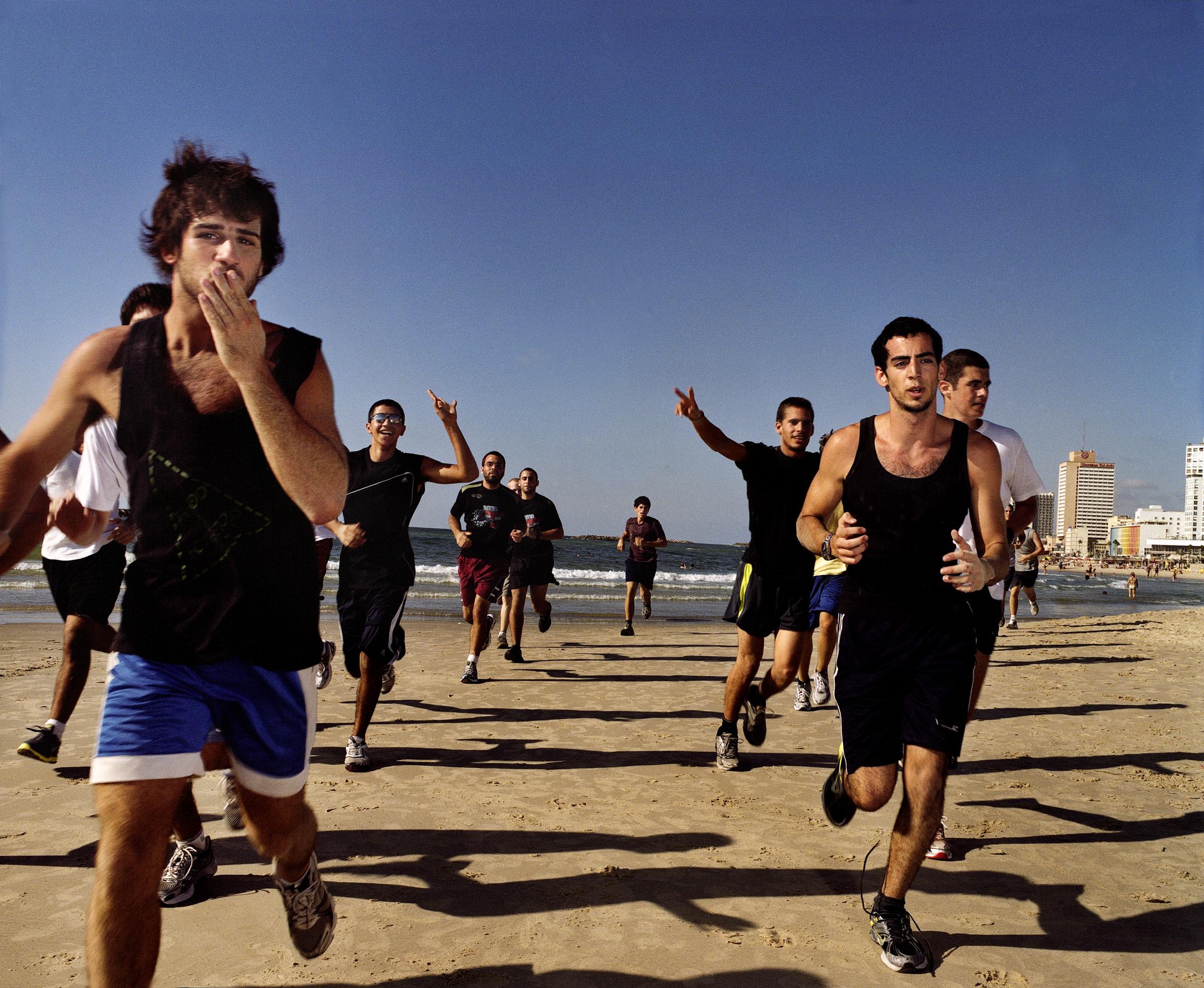 Basic Training, 2010   Israeli teenage boys get in shape as part their pre-military training.