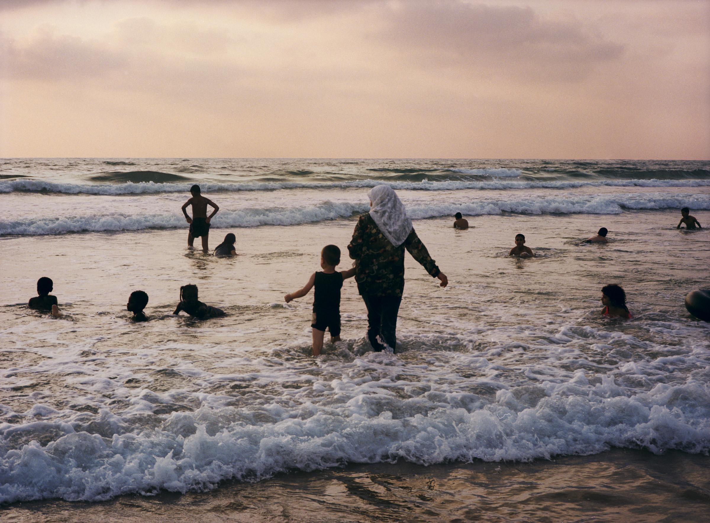 Alma Beach  Tel Aviv, July 2002