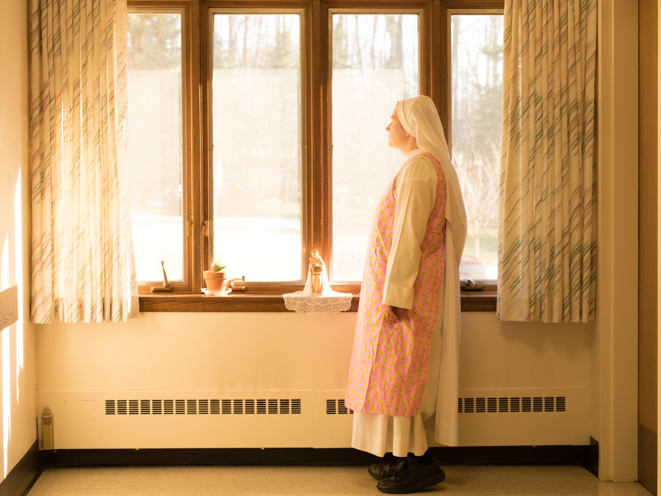 Sister Regina Marie in the light
