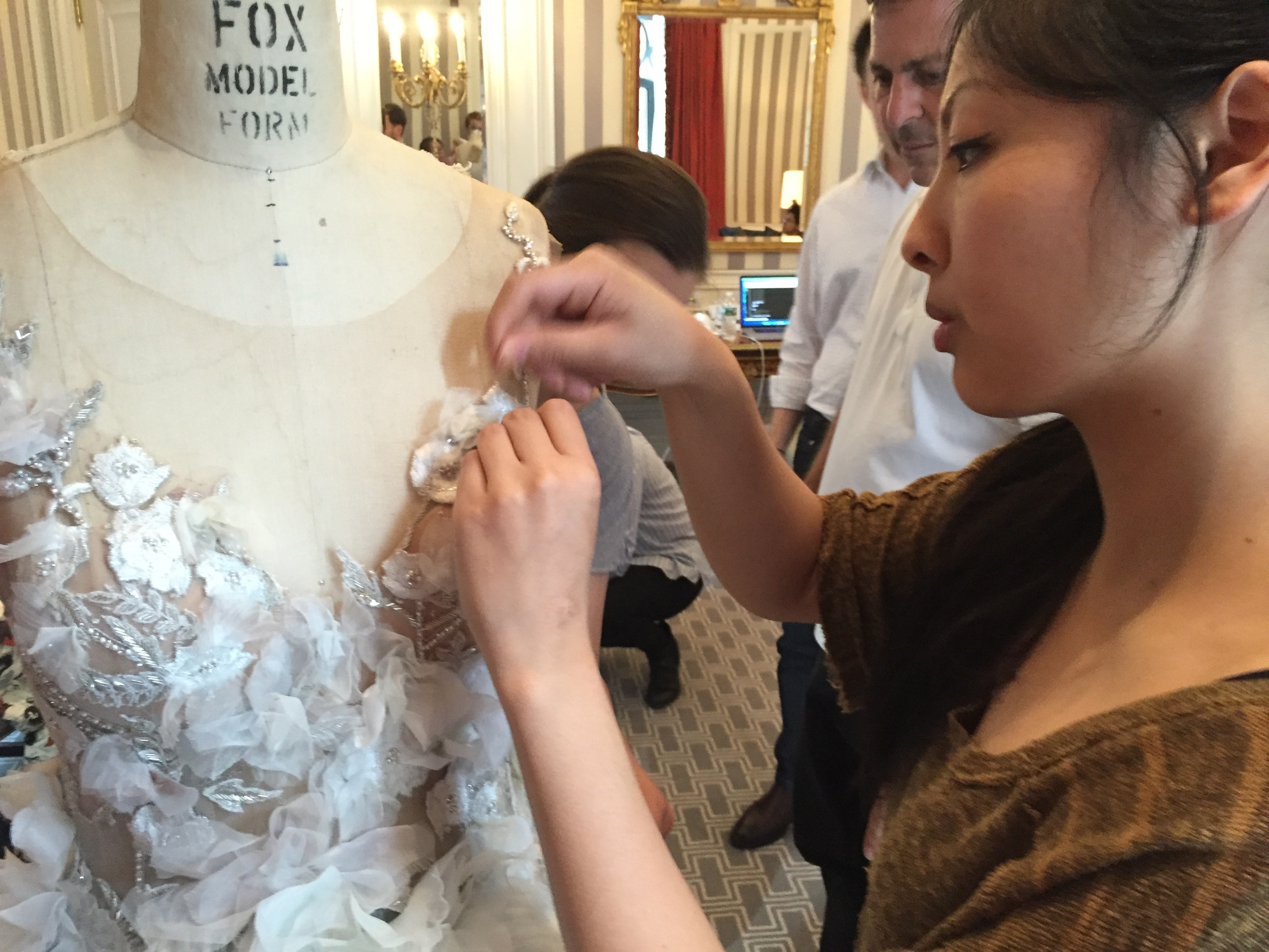 Final alterations being made at the St. Regis hotel hours before the gala