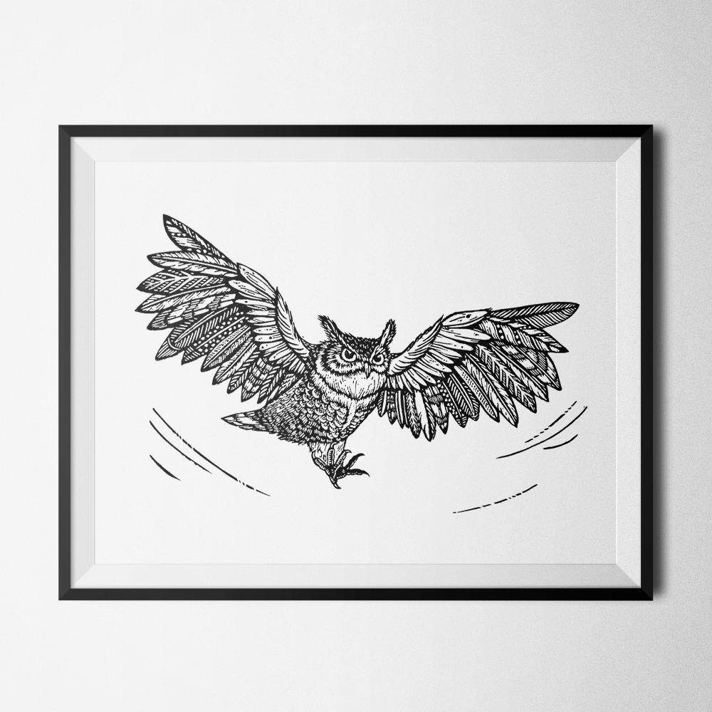 horned-owl-linocut-tian-gan-frame-1000.jpg