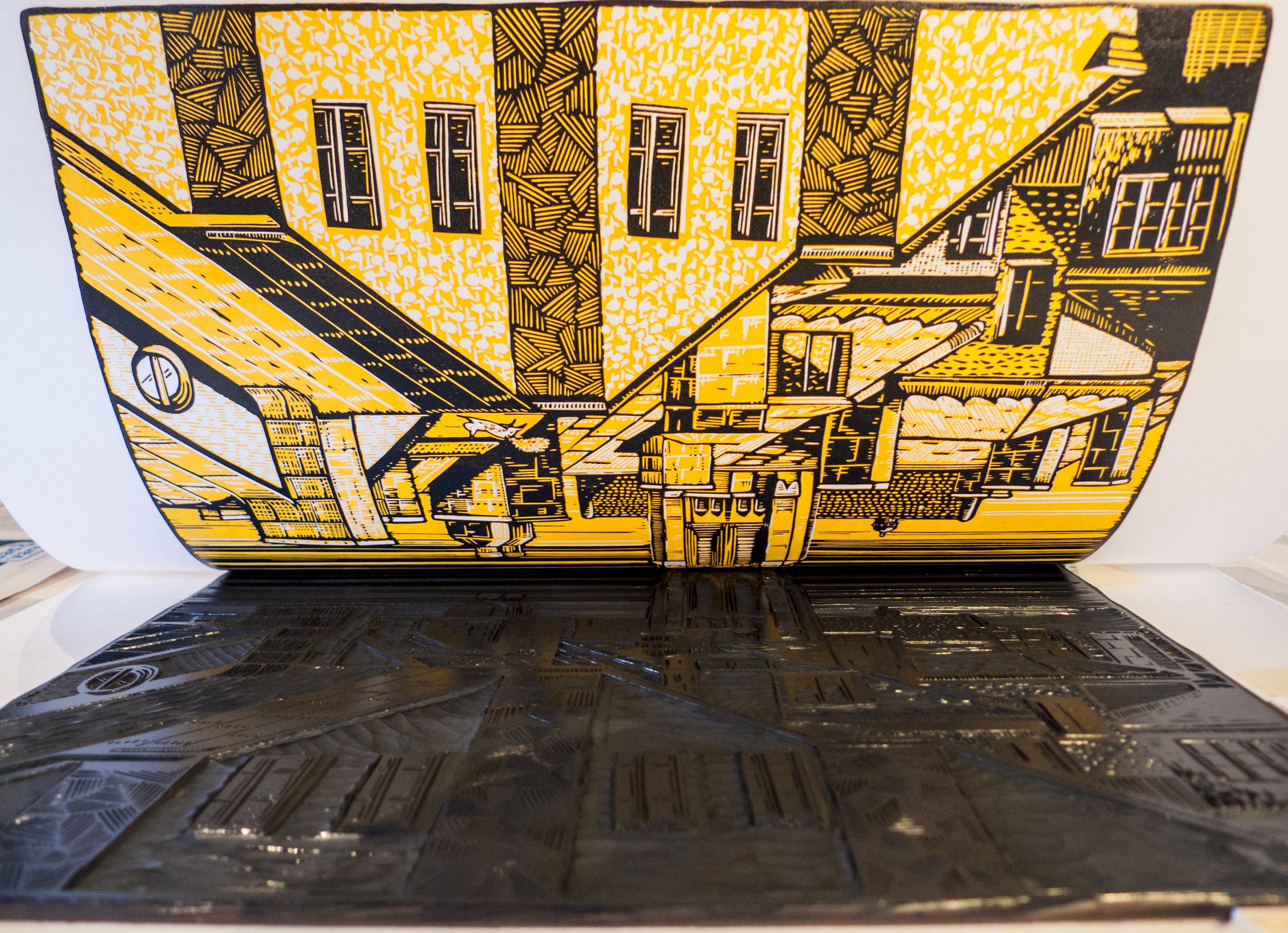 stockholm-st-johannes-kyrka-church-reduction-linocut-1st-layer-yellow-b.jpg