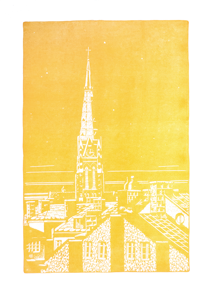stockholm-st-johannes-kyrka-church-reduction-linocut-first-layer-yellow-700.jpg
