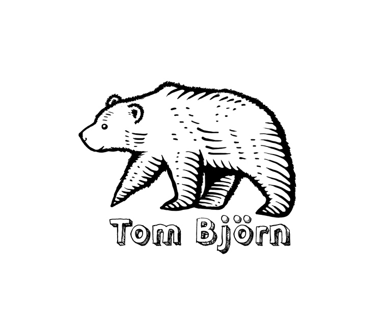 Logo design for Tom Björn, a Swedish baby-wearing jewelry brand.