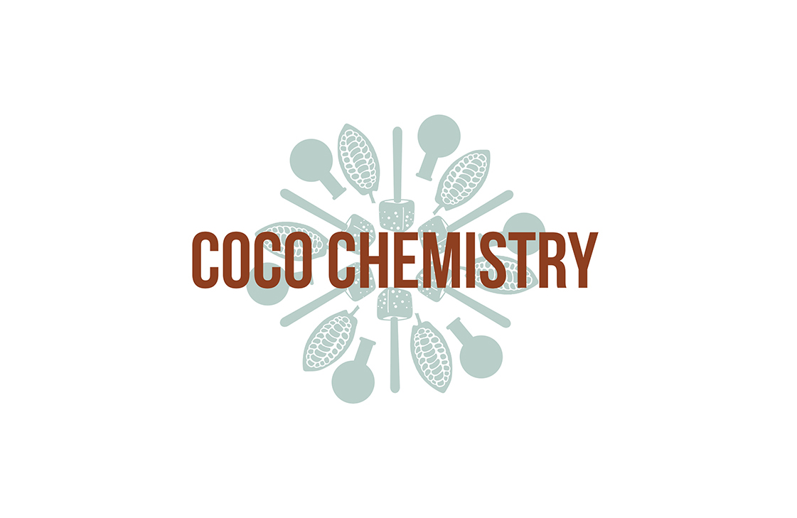 Logo design for CoCo Chemistry, a UK-based artisan chocolate brand.