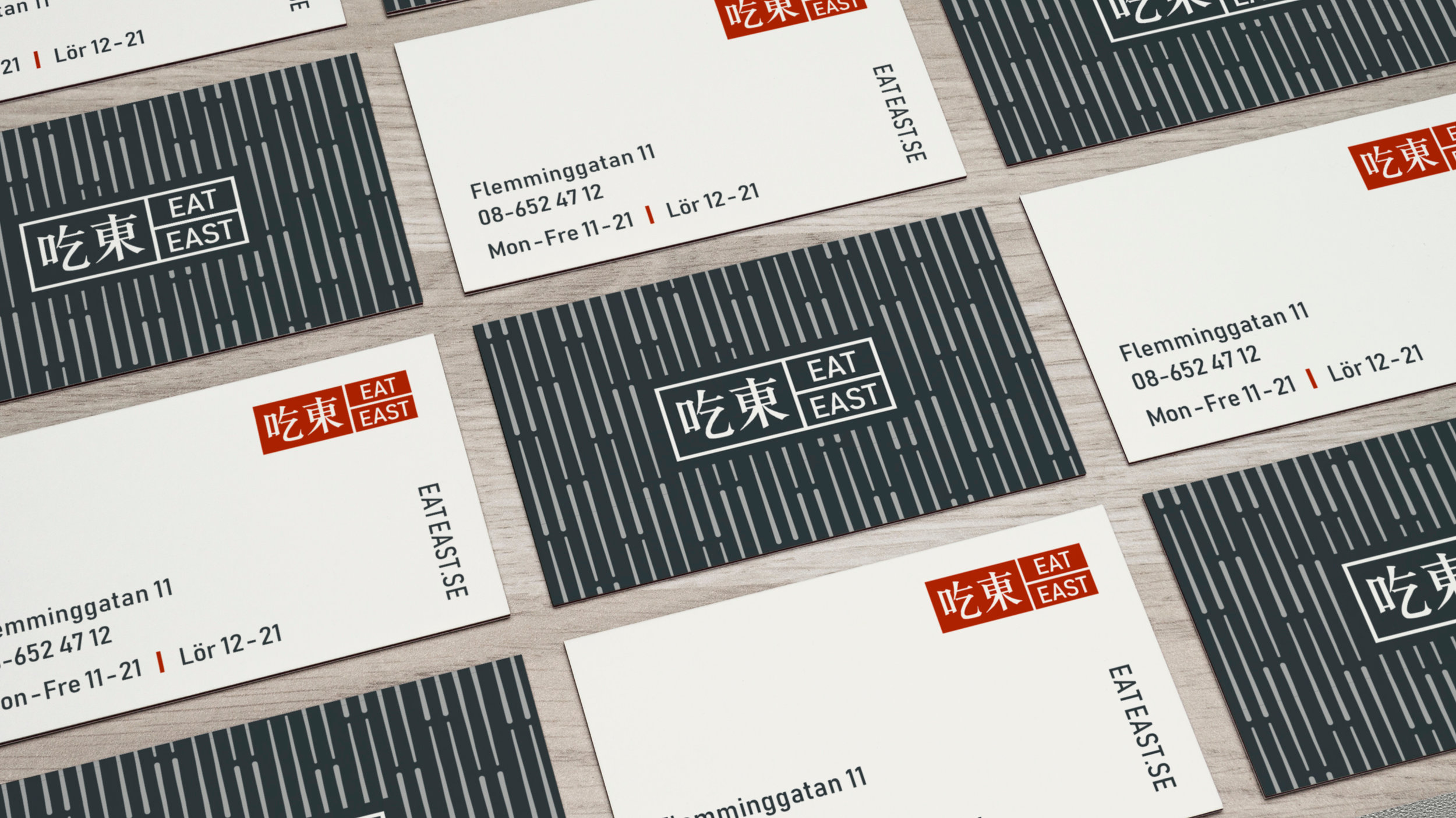 Business card design for a Chinese restaurant.