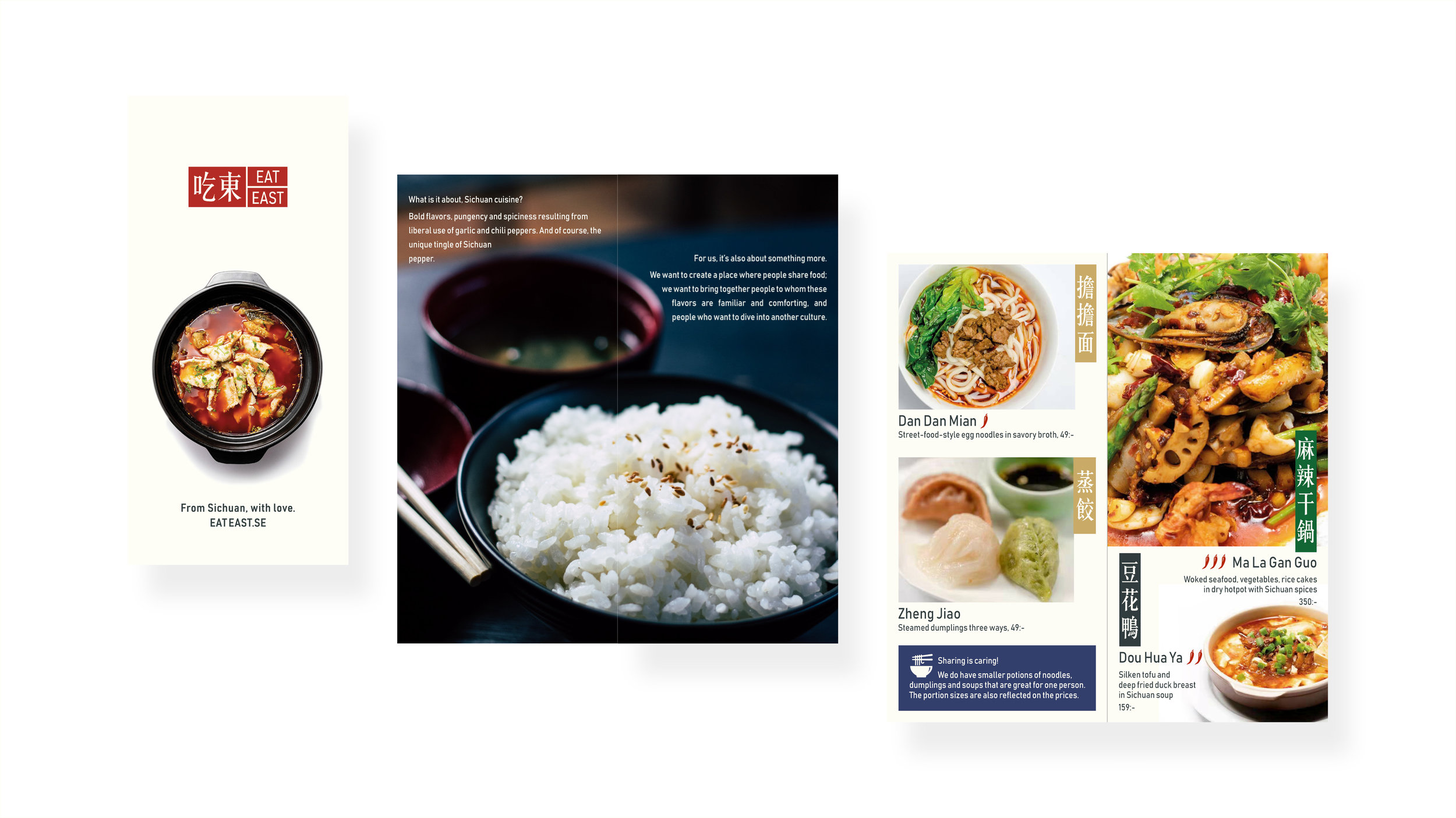 Menu design for a Chinese restaurant.