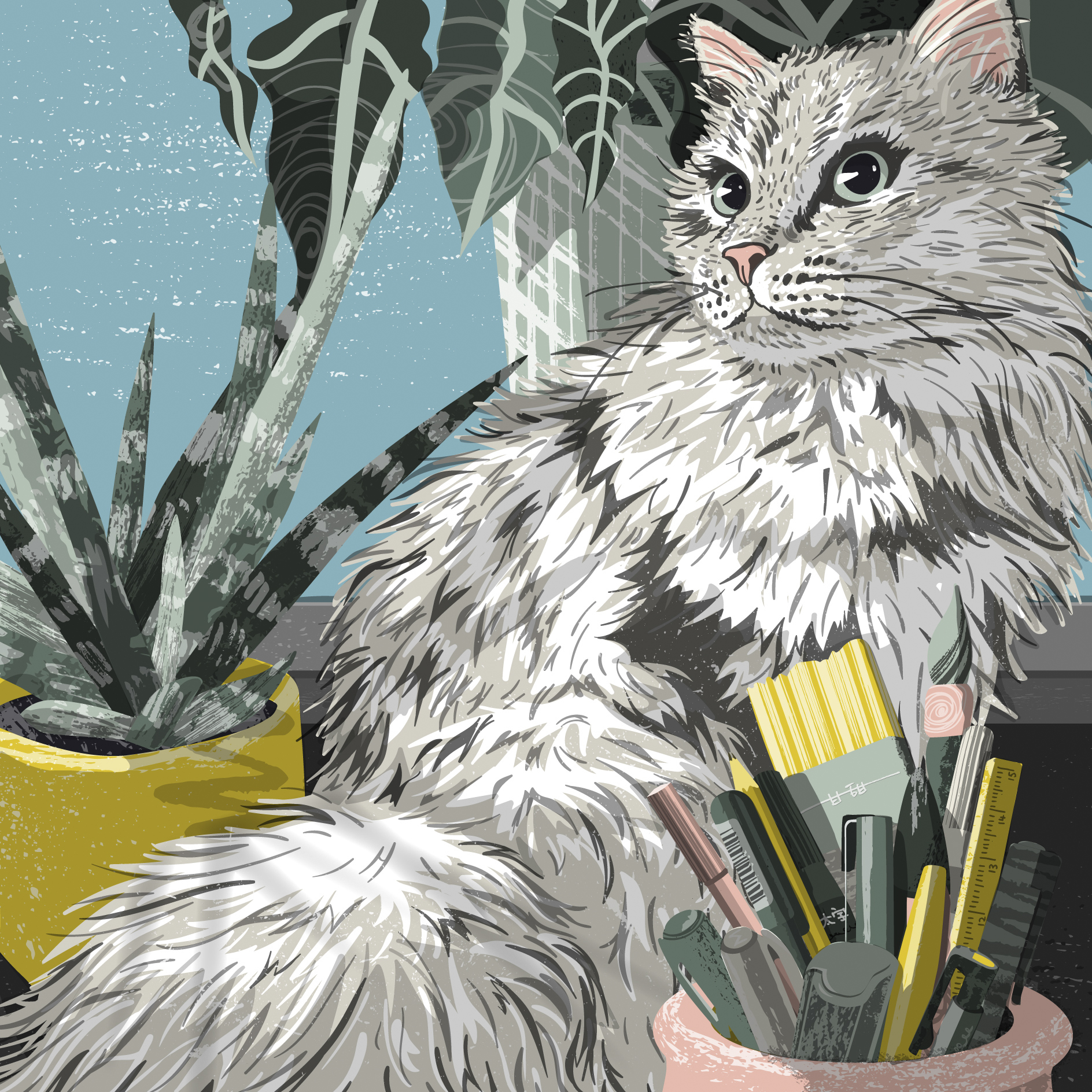 Fluff and Friends, Digital Illustration